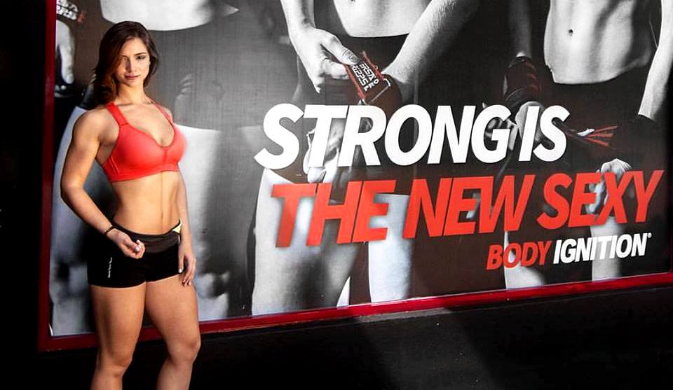 ayda delhommer body ignition extremard embrace the fight strong is the new sexy fit fitness girl