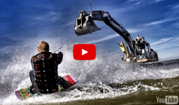 wakeboard con grua video deportes extremos wakeboarding extremard
